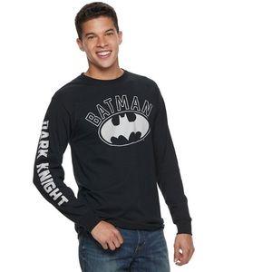 Men's Batman Long Sleeve Logo Shirt DC Comics
